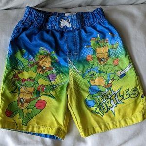 Boys ninja turtle swim shorts. Nickelodeon brand